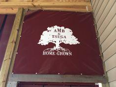 Tsuga Canopies help enclose the open-air Appalachian Mountain Brewery during winter. AMB & Tsuga - Home Grown in Boone, NC.