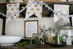 fun Christmas home decor. i like the jar full of candles.