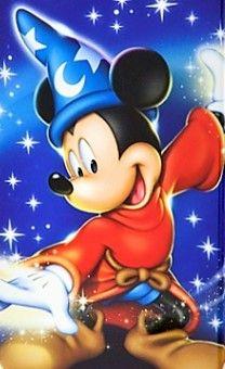Sorcerer Mickey unleashing his magic.