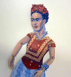 Frida Kahlo DIY Paper Puppet Doll Printable by FamousArtistsClub