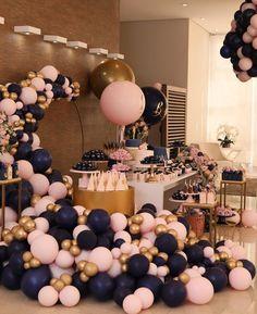 Birthday Balloon Decorations, Gender Reveal Party Decorations, Baby Shower Decorations, Gender Party, Baby Gender Reveal Party, Baby Shower Balloons, Baby Shower Themes, Pregnancy Gender Reveal, Pregnancy Photos