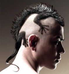 lizard haircut!!