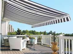 Control sun and shade with a retractable awning for your backyard or patio