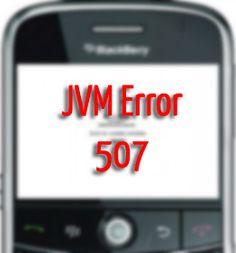 Blackberry LED and JVM Error Code