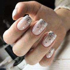 New Years Nail Designs, Winter Nail Designs, Colorful Nail Designs, Acrylic Nail Designs, Nail Art Designs, Colorful Nails, Winter Nail Art, Winter Nails, Nail Manicure