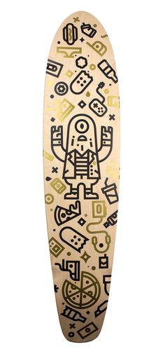 Cool skateboard illustration from Richard Perez on Dribbble: https://dribbble.com/shots/1823419-Ride-on-PDX?list=shots&sort=popular&timeframe=now&offset=1