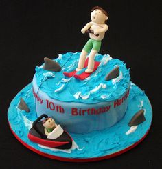 Water Ski Cake | Flickr: Intercambio de fotos