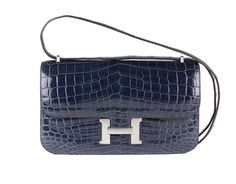 5be2ca6189bc Hermes Bag Constance Elan Blue Abysse Shiny Niloticus Crocodile C15 Front Hermes  Bags