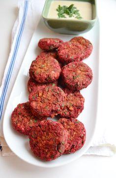 Baked Beetroot Falafel