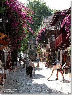 Morning in a Kas Street, Turkish Mediterranean Places To Travel, Places To See, The Places Youll Go, Travel Around The World, Around The Worlds, Visit Turkey, Turkey Travel, Istanbul Turkey, Antalya