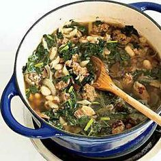 Special Sausage-and-Kale Soup