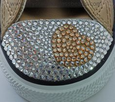 How to Crystallize a Swarovski Heart on Converse Trainers  30e98d7c31