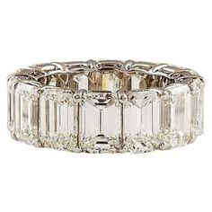 "HARRY WINSTON Extraordinary Emerald Cut Diamond Ring ""................a girl can dream! by deana"