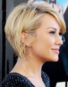 Idée coupe de cheveux morphologie visage rond