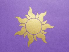 Rapunzel / Tangled Inspired Royal Sun Insignia - I want to paint this in the center of the ceiling in a room in my house!