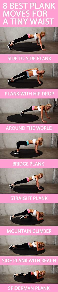 We all know the plank is one the best exercises we can do - these are the best variations to give you slim waist and strong core.