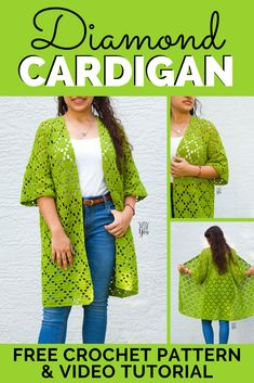 This size-inclusive summer cardigan crochet pattern is quick and easy to make! Crochet your own with this free cardigan crochet pattern and video tutorial. #summercrochet #beachcrochet #crochetcardigan #freecrochetpattern #cardigancrochetpattern Gilet Crochet, Crochet Jacket, Knit Crochet, Crochet Sweaters, Kimono Pattern, Crochet Cardigan Pattern, Beach Crochet, Free Crochet, Shawl