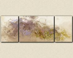 "Extra large wall art triptych abstract canvas print, 30x80 to 34x90 giclee, in mauve, lavender and green, from abstract painting ""Symphony"" by FinnellFineArt on Etsy https://www.etsy.com/listing/114428201/extra-large-wall-art-triptych-abstract"