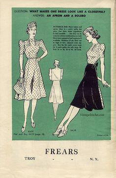 June 1939 Butterick Fashion News | VintageStitches.com