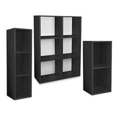 Way Basics Tool-Free Black Bookcase and Storage - BedBathandBeyond.com