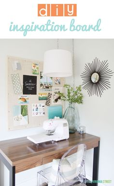 DIY Large Inspiration Pin Board - Life On Virginia Street