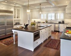 Cherry Hardwood floors, white cabinets Traditional Kitchen Design, Pictures, Remodel, Decor and Ideas - page 9