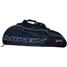 Miken Freak Tournament Wheeled Softball Equipment Bag (Black, 37 x 13 x 12)