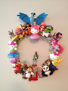 Toy wreath for the play room