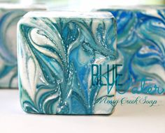 Blue Water, Cool Water, Handmade Soap
