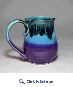 Purple Frost Mug by Moonfire Pottery. Color