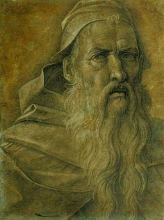Giovanni Bellini ~ Head of an Old Bearded Man, c.1460-70