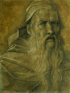 Giovanni Bellini ~ Head of an Old Bearded Man, c.1460-70