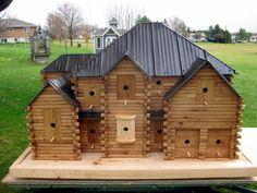 Strange bird houses Beautiful Birdhouse - Wood Mansion For Birds : Art, Design Cool Bird Houses, Wooden Bird Houses, Fairy Houses, Birdhouse In Your Soul, Homemade Bird Houses, Birdhouse Designs, Birdhouse Ideas, Bird House Kits, Stone Houses