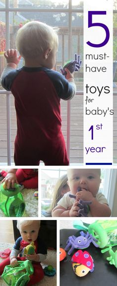 {5 Must-Have Toys for Baby's First Year} Great list from Amy Mascott of Teach Mama