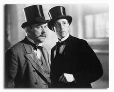 Basil Rathbone and Nigel Bruce as Sherlock Holmes and Dr. Watson
