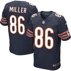 Nike Elite Zach Miller Navy Blue Men's Jersey - Chicago Bears #86 NFL Home