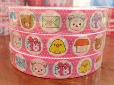 Rilakkuma bear deco tape stickers  wrap up some gifts by CharmTape, $2.55