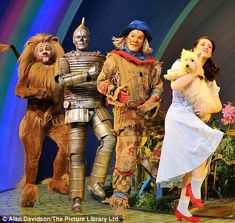Off to see the wizard: Over The Rainbow winner Danielle Hope makes Dorothy debut with Michael Crawford Wizard Of Oz Lion, Wizard Of Oz Musical, Girl Doll Clothes, Girl Dolls, Sport Editorial, Cowardly Lion, Men Tv, Set Design Theatre, America Girl