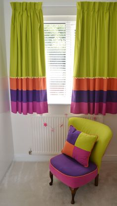 Full length of #curtains made for our client and their #baby #nursery