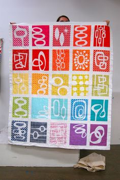 Awesome quilt presented at the last meeting of the Portland Modern Quilt Guild