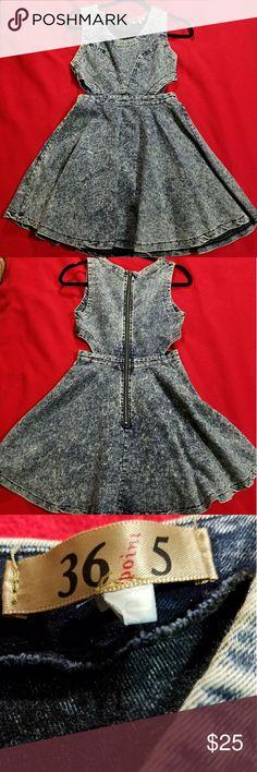 Acid Wash Skater Dress Small (36point5) Acid Wash Denim Skater Dress size Small Dresses Mini