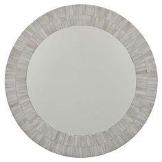 Round Bone Veneer Mirror from Regina Andrew Design.