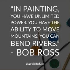 "25 Bob Ross Quotes About Life and Happiness The spawned a lot of pop culture heroes – but only a few managed to transcend generations quite like American painter and television host Bob Ross. The iconic creator of the show ""The Jo… Feel Good Quotes, Best Quotes, Life Quotes, Fabulous Quotes, Bob Ross Quotes, Norman, Inverted Bob Haircuts, Best Bobs, Craft Quotes"