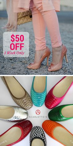 Scarletto's are proud to provide stilettos online with delivery throughout Australia. Don't put up with uncomfortable work footwear any longer! Stilettos, Heels, Sale 50, Shoe Sale, Warehouse, Espadrilles, Footwear, Collections, Flats