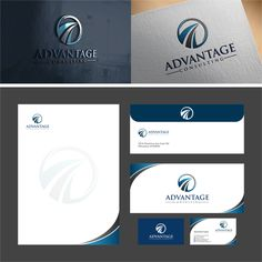 Create a sophisticated and professional design for Advantage Consulting (Executive Recruitment) by GON_des Logos, Logo Branding, Branding Design, Logo Design, Corporate Brochure, Business Brochure, Letterhead Design, Medical Logo, Brand Identity Pack