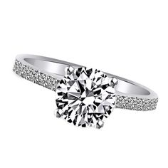2.25 CT Round Cut D/VVS1 Man Made Diamond Solitaire Engagement Ring White Gold #Affinityhomeshopping #Engagement