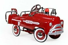 "Sad Face Tow Truck Pedal Car - Red by American-Retro. $288.00. Look at these New Red Tow Trucks! They're sharp enough to respond to the most imaginative of road-side assistance calls, and proudly proclaim their 24/7 service on the fender.Just like the originals, our Tow Truck is made of heavy gauge steel and is ready for hours of play. Inspired by the famous and highly collectible ""SAD FACE"" vehicles of the 1940's, it is true in all details. Our tow trucks comes in Yell..."