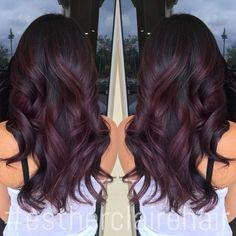 burgundy balayage ombre