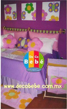 Cabecera para cama metal y tela bonito pinterest - Como hacer una cama infantil ...