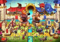 It's my fan art of the clash royale fan art contest Clash Royale : The royale arena Clash Royale Drawings, Goblin, Royal Clan, Clash Of Clans Gems, Pokemon, Cat Character, Skylanders, Strategy Games, The Clash